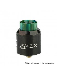 Authentic Timesvape APEX RDA Rebuildable Dripping Atomizer w/ BF Pin - Black, Stainless Steel, 25mm Diameter