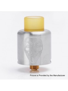 Authentic Timesvape Mask RDA Rebuildable Dripping Atomizer w/ BF Pin - Silver, Stainless Steel, 24mm Diameter