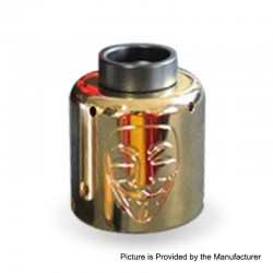Authentic Timesvape Mask RDA Rebuildable Dripping Atomizer w/ BF Pin - Gold, Stainless Steel, 30mm Diameter