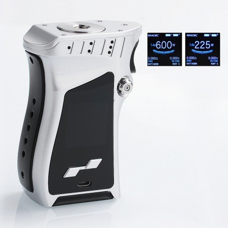 Authentic SMOKTech SMOK Mag 225W TC VW Variable Wattage Mod - Silver Black, 6~225W, 2 x 18650