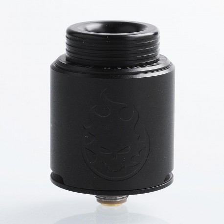 Authentic Vandy Vape Phobia RDA Rebuildable Dripping Atomizer w/ BF Pin - Black, Stainless Steel, 24mm Diameter