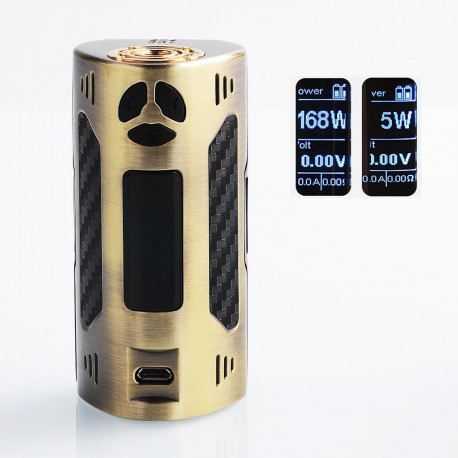 Authentic Dovpo Trigger 168W TC VW Variable Wattage Box Mod - Bronze, Zinc Alloy, 5~168W, 2 x 18650