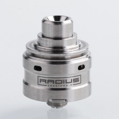 SXK Radius V2 Style RDA Rebuildable Dripping Atomizer w/ BF Pin - Silver, 316 Stainless Steel, 22mm Diameter