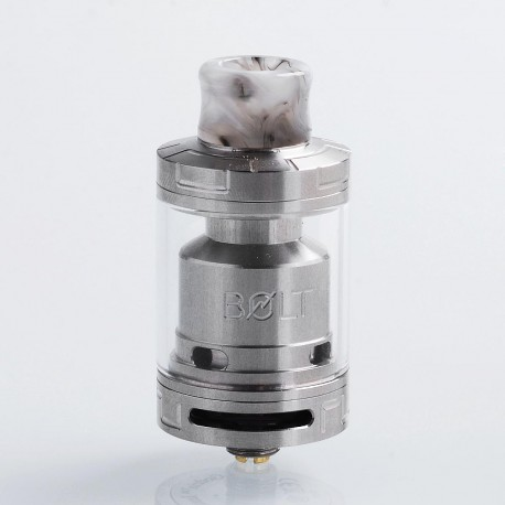 Authentic Godria Bolt RTA Rebuildable Tank Atomizer - Silver, Stainless Steel, 2ml, 24mm Diameter
