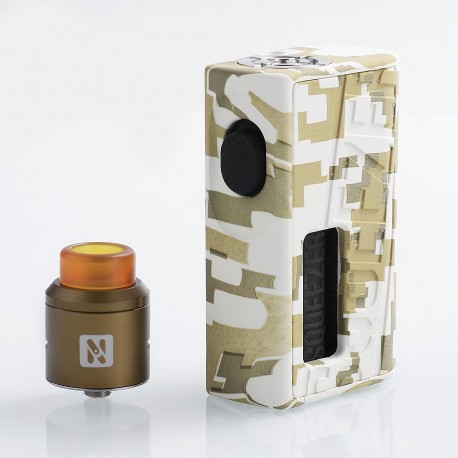Authentic Hugo Vapor Squeezer BF Squonk Box Mod + N RDA Kit - Army Green, 10ml, 1 x 18650 / 20700, 25mm Diameter