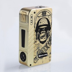 Authentic Dovpo M VV 300W Variable Voltage Box Mod Special Edition - Gold Gorilla, Zinc Alloy, 2 x 18650