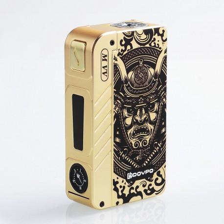 Authentic Dovpo M VV 300W Variable Voltage Box Mod Special Edition - Gold Samurai, Zinc Alloy, 2 x 18650