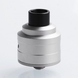 Kindbright Le Supersonic Style RDA Rebuildable Dripping Atomizer w/ BF Pin - Silver, 316 Stainless Steel, 24mm Diameter