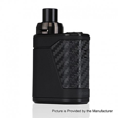 Authentic Innokin PocketBox 40W 1200mAh All-in-One Starter Kit - Black, 0.35 Ohm / 1.2 Ohm, 2ml