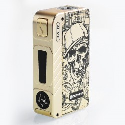Authentic Dovpo M VV 300W Variable Voltage Box Mod Special Edition - Gold Skull, Zinc Alloy, 2 x 18650