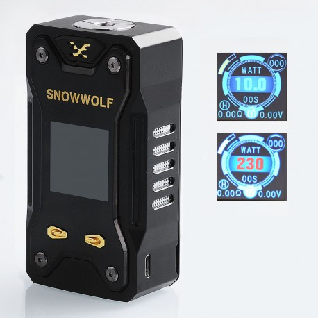 Authentic Sigelei Snowwolf Xfeng 230W TC VW Variable Wattage Box Mod - Black, 10~230W, 2 x 18650