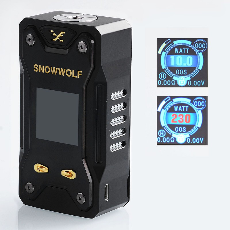 authentic sigelei snowwolf xfeng  black tc variable wattage mod