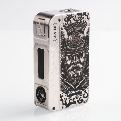 Authentic Dovpo M VV 300W Variable Voltage Box Mod Special Edition - Silver Samurai, Zinc Alloy, 2 x 18650