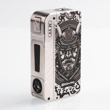 Authentic Dovpo M VV 300W Variable Voltage Box Mod Special Edition - Silver Samurai, Zinc Alloy, 2 x 18650