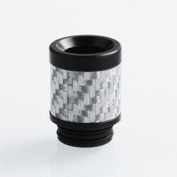 810 Replacement Drip Tip for TFV8 / TFV12 Tank / 528 Goon / Kennedy / Reload RDA - White, Carbon Fiber + POM, 22mm