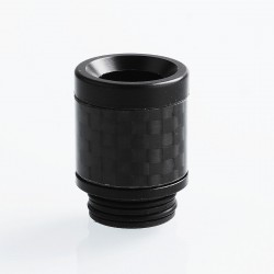 810 Replacement Drip Tip for TFV8 / TFV12 Tank / 528 Goon / Kennedy / Reload RDA - Black, Carbon Fiber + POM, 22mm