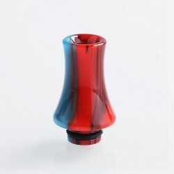 510 Replacement Drip Tip for RDA / RTA / Sub Ohm Tank - Red + Blue, Epoxy Resin, 26mm