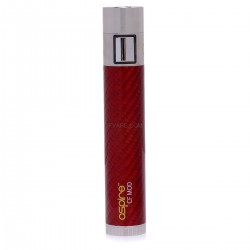 Authentic Aspire CF 510/eGo 18650 Mod - Red, Stainless Steel + Carbon Fiber