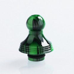 510 Replacement Drip Tip for RDA / RTA / Sub Ohm Tank - Green + Black, Epoxy Resin, 22.7mm