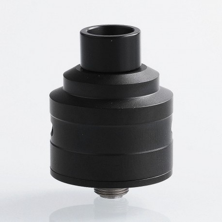 Kindbright Le Supersonic Style RDA Rebuildable Dripping Atomizer w/ BF Pin - Black, 316 Stainless Steel, 24mm Diameter