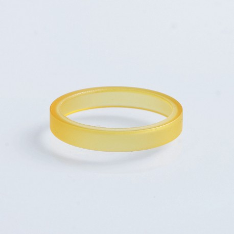 Kindbright Decorative Ring Adapter for 22mm RDA / RTA / Sub Ohm Atomizer - Yellow, PEI, 24mm Outer Diameter