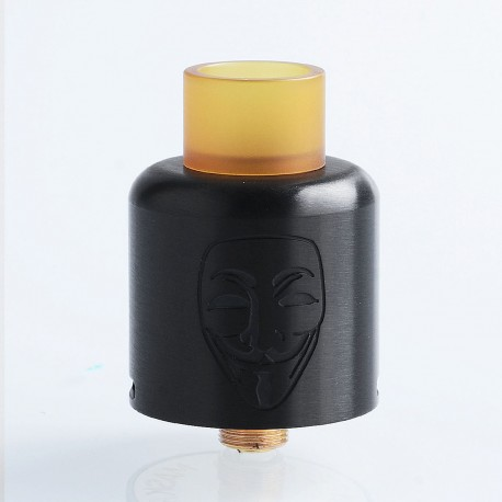 Authentic Timesvape Mask RDA Rebuildable Dripping Atomizer w/ BF Pin - Black, Stainless Steel, 24mm Diameter