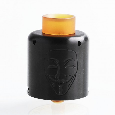 Authentic Timesvape Mask RDA Rebuildable Dripping Atomizer w/ BF Pin - Black, Stainless Steel, 30mm Diameter