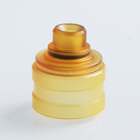 SXK Replacement Top Cap + Drip Tip Kit for Radius V2 Style RDA - Yellow, PEI