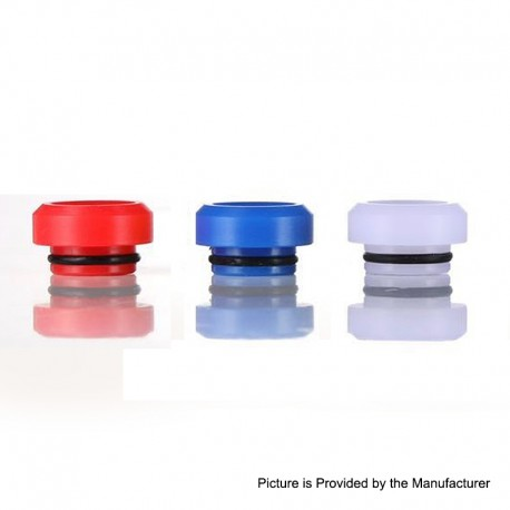 Authentic GAS Mods Replacement 810 Drip Tip Kit for G.R.1 GR1 RDA - White + Red + Blue, POM