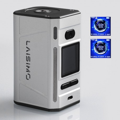 Authentic Laisimo F4 360W TC VW Variable Wattage Box Mod - Silver, 10~360W, 4 x 18650, 100~300'C / 212~572'F