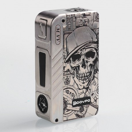 Authentic Dovpo M VV 300W Variable Voltage Box Mod Special Edition - Silver Skull, Zinc Alloy, 2 x 18650