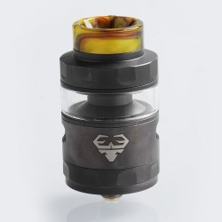 Authentic GeekVape Blitzen RTA Rebuildable Tank Atomizer Standard Edition - Gun Metal, Stainless Steel, 5ml, 24mm Diameter