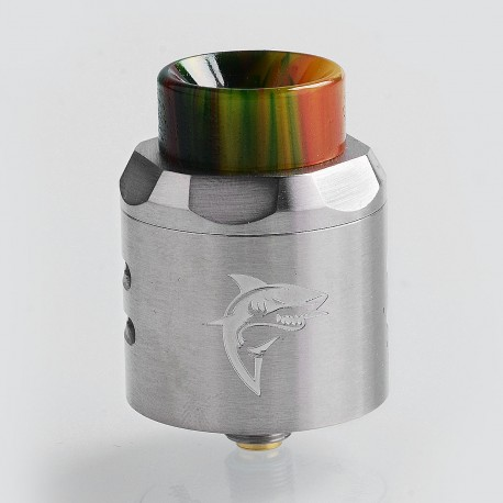 Authentic Timesvape APEX RDA Rebuildable Dripping Atomizer w/ BF Pin - Silver, Stainless Steel, 25mm Diameter