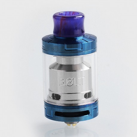Authentic Godria Bolt RTA Rebuildable Tank Atomizer - Blue, Stainless Steel, 2ml, 24mm Diameter
