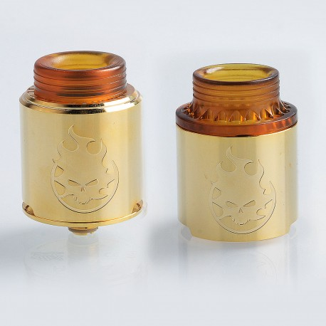 Authentic Vandy Vape Phobia RDA Rebuildable Dripping Atomizer w/ BF Pin - Gold, Stainless Steel, 24mm Diameter