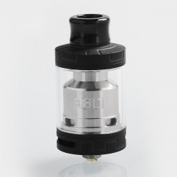 Authentic Godria Bolt RTA Rebuildable Tank Atomizer - Matte Black, Stainless Steel, 2ml, 24mm Diameter