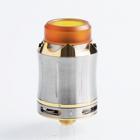 Authentic Cool Vapor Arthur RDA Rebuildable Dripping Atomizer w/ BF Pin - Silver, Stainless Steel, 24mm Diameter