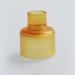 Replacement Top Cap + 510 Drip Tip Kit for Soul S Style RDA - Yellow, PEI