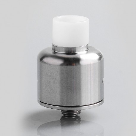 Soul S Style RDA Rebuildable Dripping Atomizer w/ BF Pin - Silver, Stainless Steel, 22mm Diameter