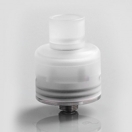 Soul S Style RDA Rebuildable Dripping Atomizer w/ BF Pin - White, PC + Stainless Steel, 22mm Diameter