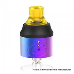 Authentic Vapefly Galaxies MTL RDA Rebuildable Dripping Atomizer w/ BF Pin - Rainbow, Stainless Steel + PMMA, 22mm Diameter