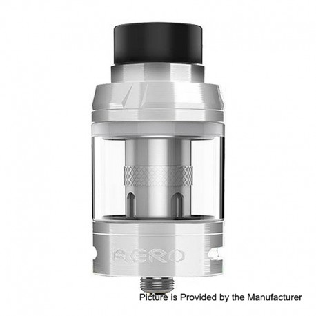 Authentic GeekVape Aero Sub Ohm Tank Clearomizer - Silver, Stainless Steel, 4ml, 25mm Diameter