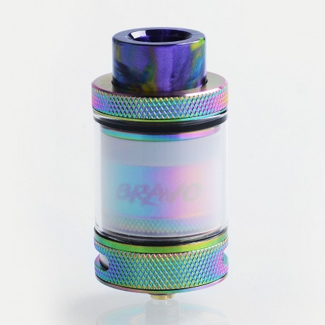 Authentic Wotofo Bravo RTA Rebuildable Tank Atomizer - Rainbow, Stainless Steel, 6ml, 25mm Diameter