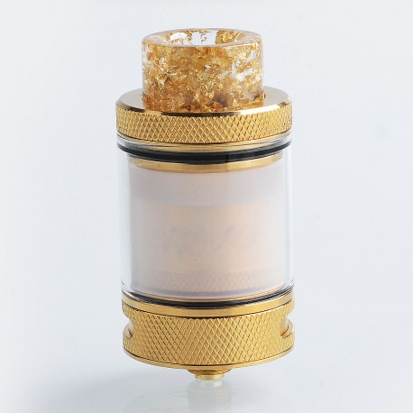 Authentic Wotofo Bravo RTA Rebuildable Tank Atomizer - Gold, Stainless Steel, 6ml, 25mm Diameter