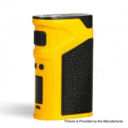 Authentic Uwell Ironfist 200W TC VW Variable Wattage Box Mod - Yellow, Zinc Alloy + Leather, 5~200W, 2 x 18650