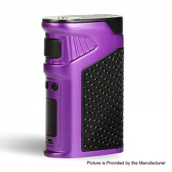 Authentic Uwell Ironfist 200W TC VW Variable Wattage Box Mod - Purple, Zinc Alloy + Leather, 5~200W, 2 x 18650