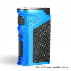Authentic Uwell Ironfist 200W TC VW Variable Wattage Box Mod - Blue, Zinc Alloy + Leather, 5~200W, 2 x 18650
