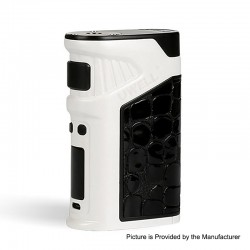 Authentic Uwell Ironfist 200W TC VW Variable Wattage Box Mod - White, Zinc Alloy + Leather, 5~200W, 2 x 18650