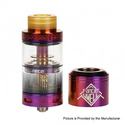 Authentic Uwell Fancier RTA / RDA Rebuildable Dripping Tank Atomizer - Purple, Stainless Steel, 4ml, 24mm Diameter