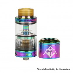 Authentic Uwell Fancier RTA / RDA Rebuildable Dripping Tank Atomizer - Iridescent, Stainless Steel, 4ml, 24mm Diameter